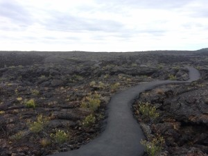 Hiking to the Lava Tubes